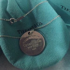 Jewelry - Tiffany & Co. Round tag necklace sterling silve